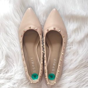 Studded baby pink flats